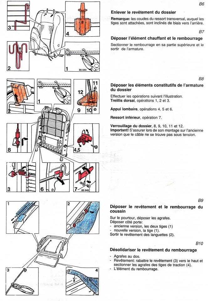 sieges   remplacement m u00e9canisme